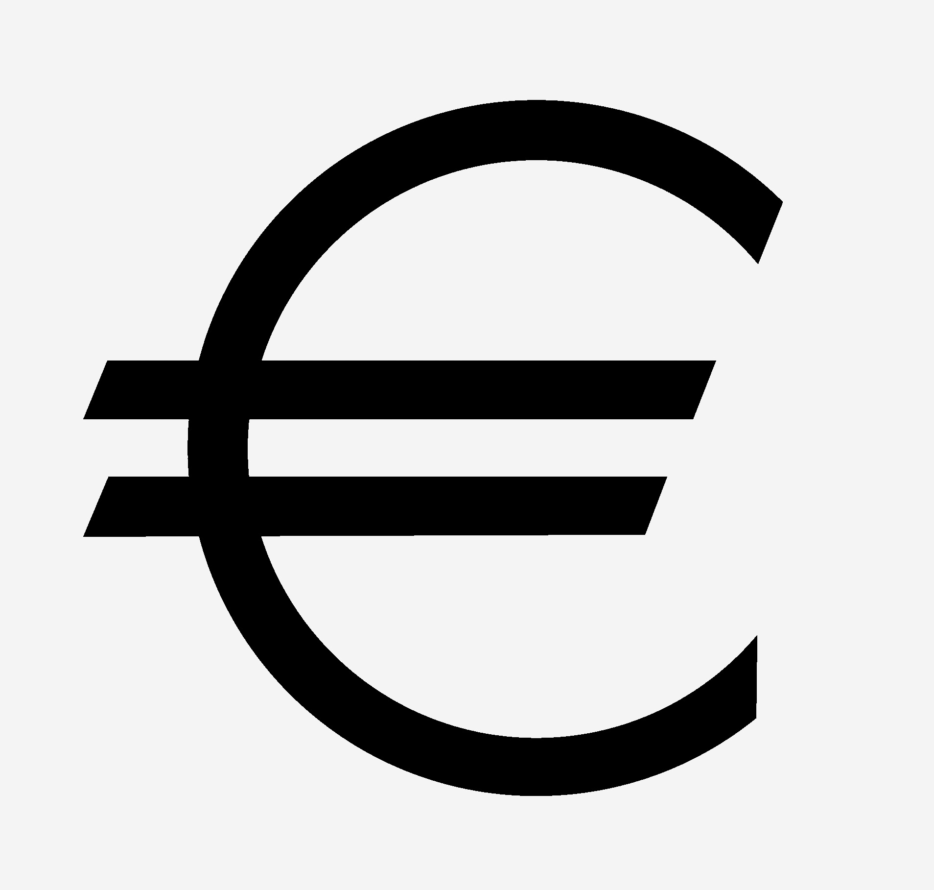 Euro Symbol Official Bitmap And Vector Image Download